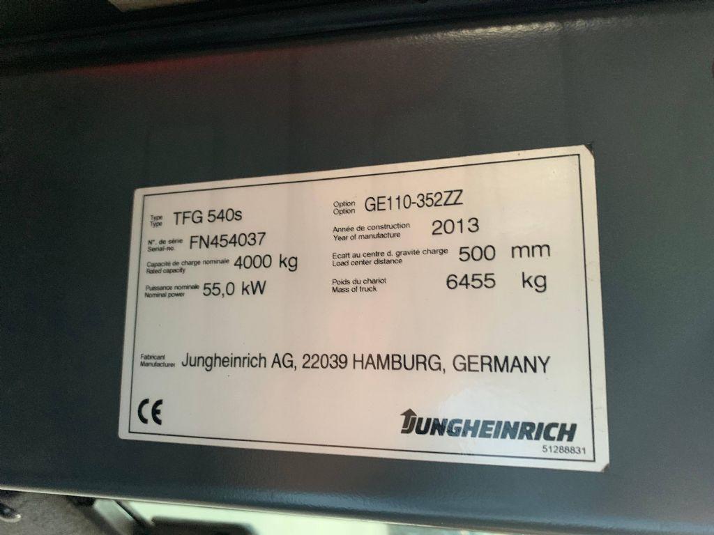 Jungheinrich TFG 540s Baujahr 2013 / Stunden 12551 / HH 3520 Treibgasstapler www.gst-logistic.com