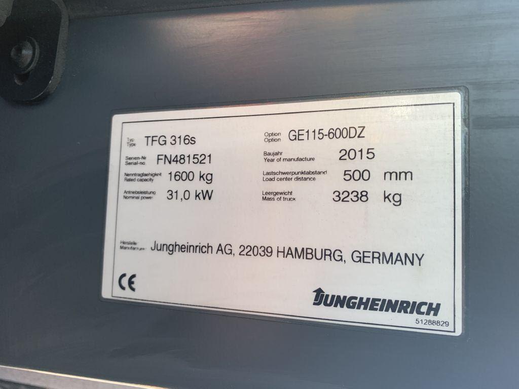 Jungheinrich TFG 316s Baujahr 2015/Stunden 11581 /HH 6000 Treibgasstapler www.gst-logistic.com
