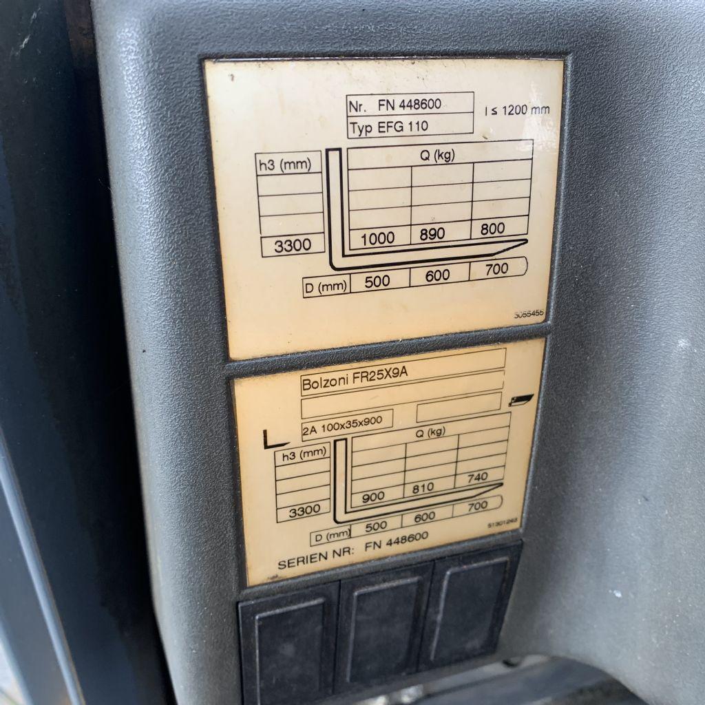 Jungheinrich EFG 110 Baujahr 2013 HH 3300 Zinkenversteller Elektro 3 Rad-Stapler www.gst-logistic.com