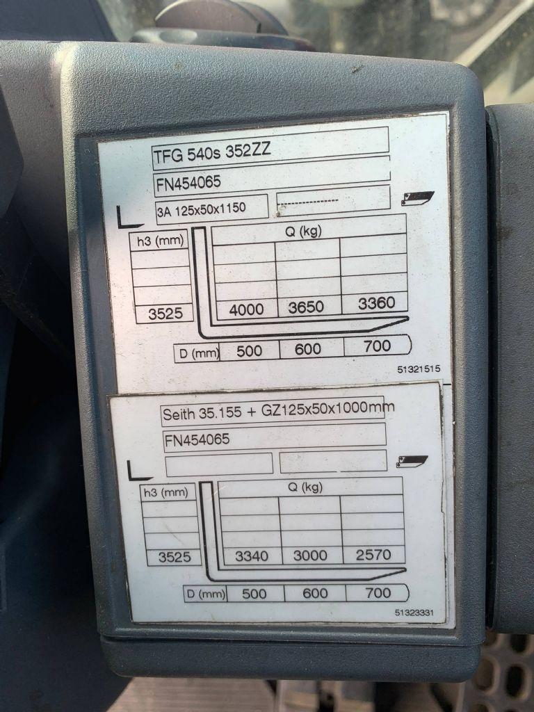 Jungheinrich TFG 540s Baujahr 2013 / Stunden 12349 / HH 3520 Treibgasstapler www.gst-logistic.com
