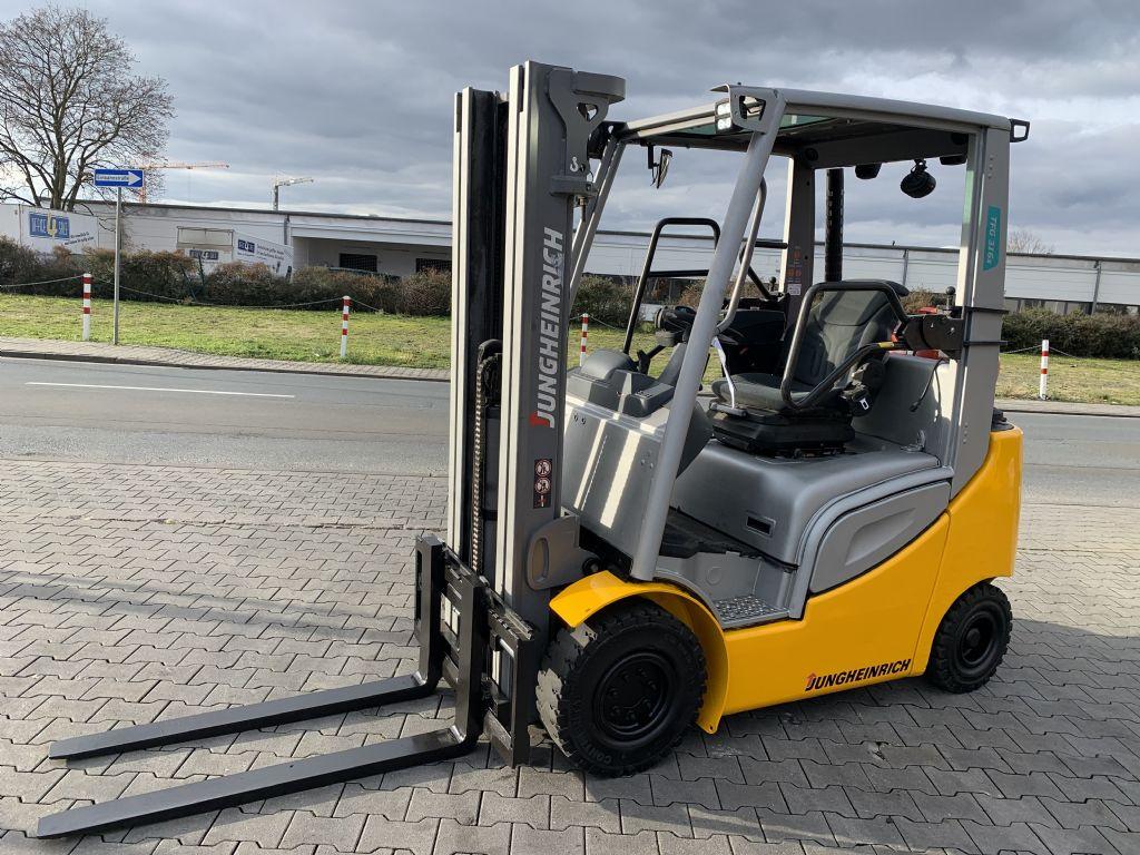 Jungheinrich TFG 316s Baujahr 2018 / Stunden 5808 / HH 4640 TRIPLEX Treibgasstapler www.gst-logistic.com