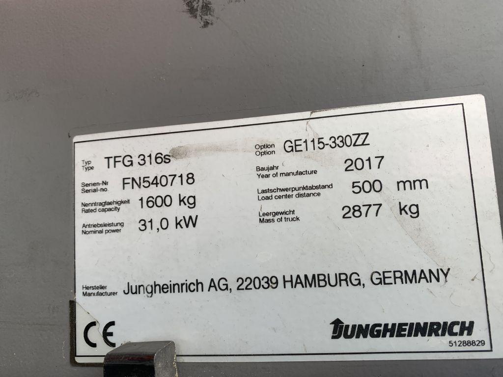 Jungheinrich TFG 316s Baujahr 2017/Stunden 10138 /HH3300 Treibgasstapler www.gst-logistic.com