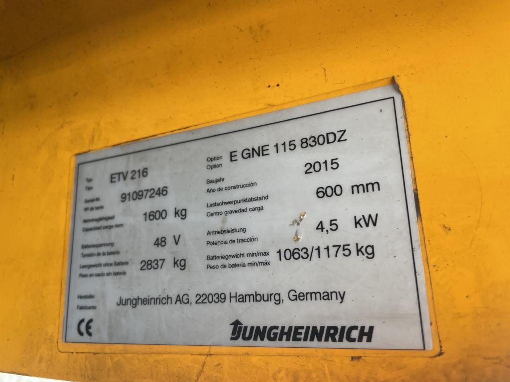 Jungheinrich ETV 216 Baujahr 2015 / Stunden 10176/ HH 8300 Schubmaststapler www.gst-logistic.com