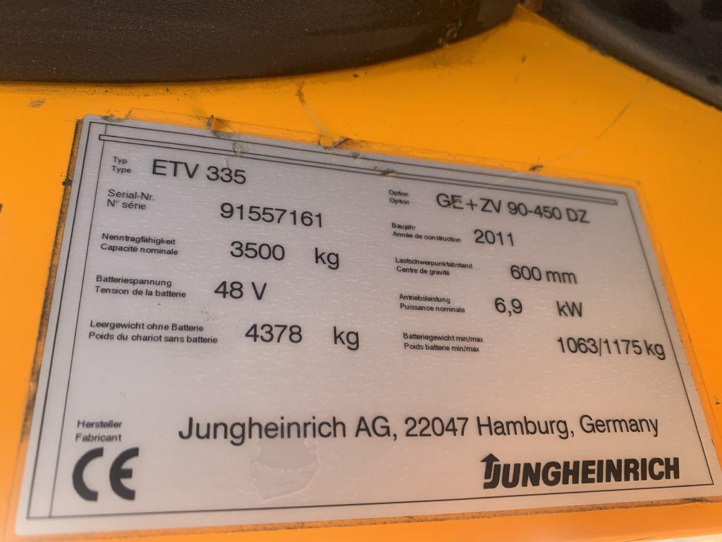 Jungheinrich ETV 335 Baujahr 2011Akku 2019 Tragkraft 3500 Schubmaststapler www.gst-logistic.com