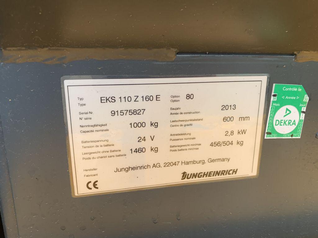 Jungheinrich EKS 110 Baujahr 2013  Stunden 2198 Hubhöhe 2400 Mittelhubkommissionierer www.gst-logistic.com