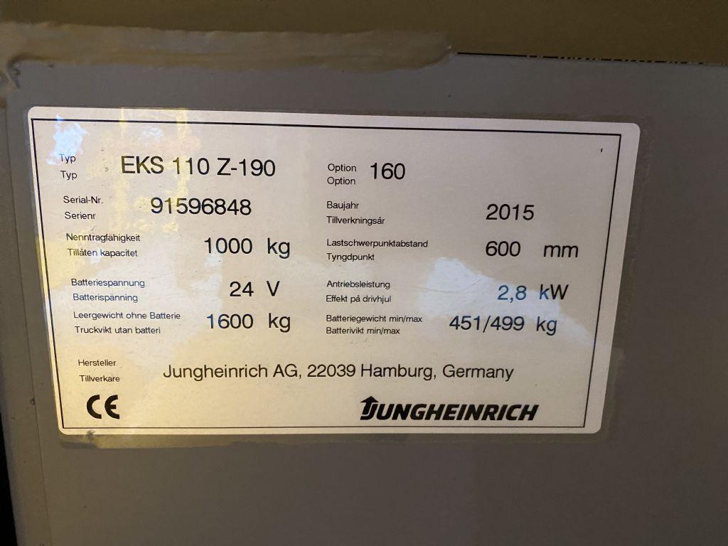 Jungheinrich EKS 110 Baujahr 2015 2,7M 6 x Vorhanden Mittelhubkommissionierer www.gst-logistic.com