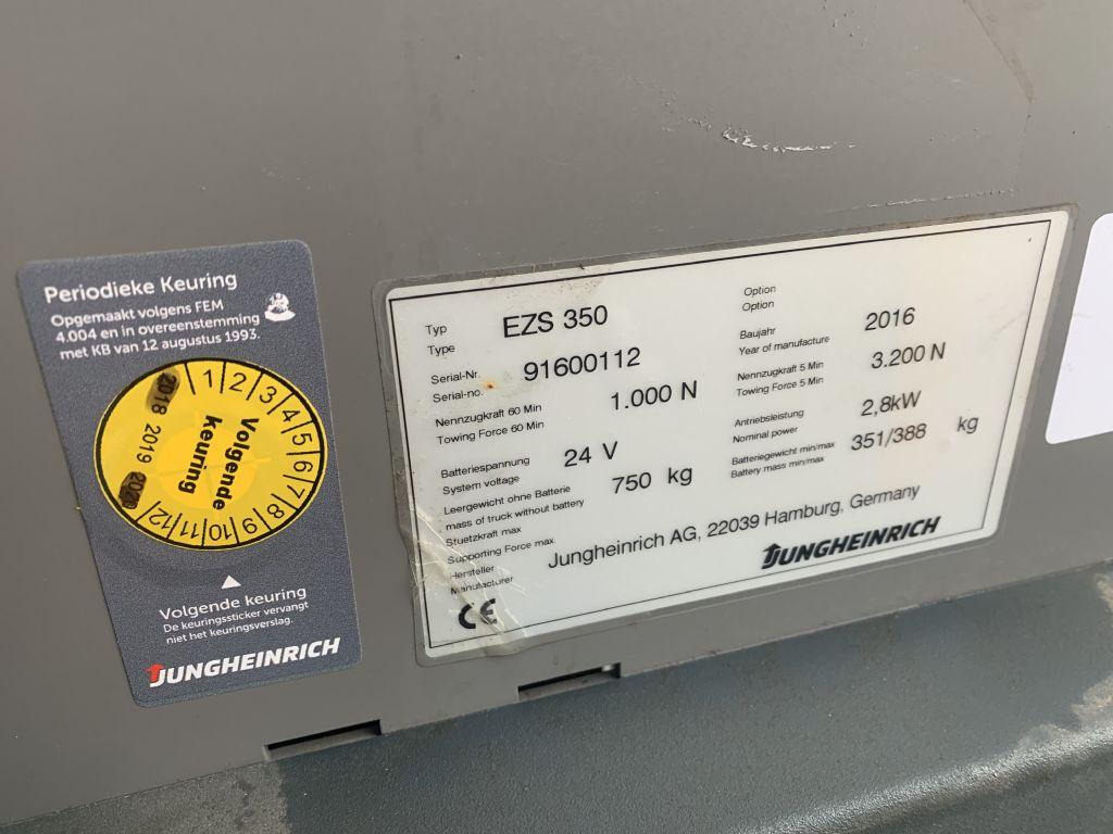 Jungheinrich EZS 350 Baujahr 2016 Betriebsstunden 2149 Schlepper www.gst-logistic.com
