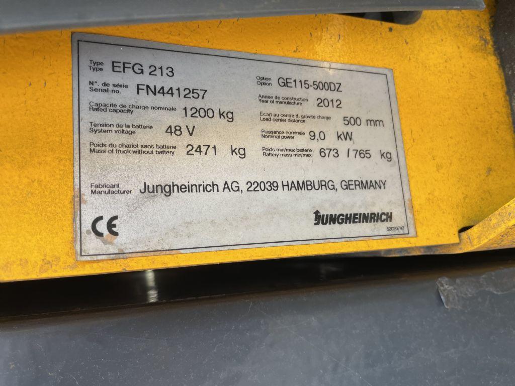 Jungheinrich EFG 213 Baujahr 2012 HH 5,0M Akku 2017 Elektro 3 Rad-Stapler www.gst-logistic.com