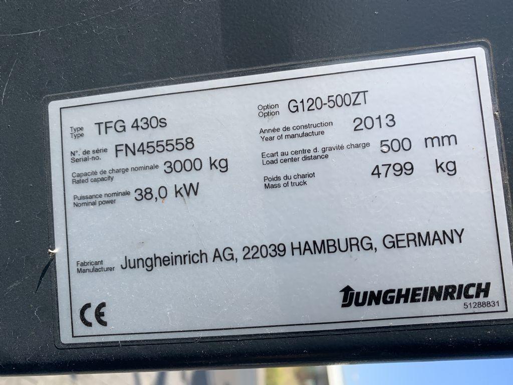 Jungheinrich TFG 430s Baujahr 2013/ Stunden 2515 HH 5000 Treibgasstapler www.gst-logistic.com