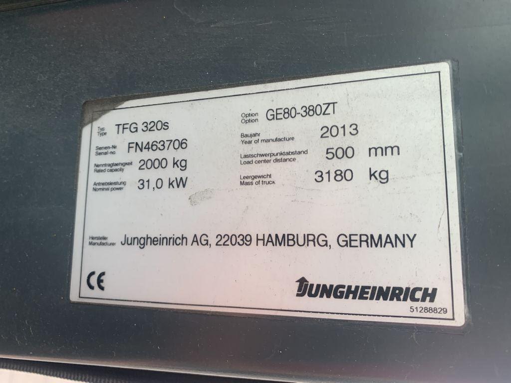 Jungheinrich TFG 320s Baujahr 2013/ Stunden 3304 HH3800  Treibgasstapler www.gst-logistic.com