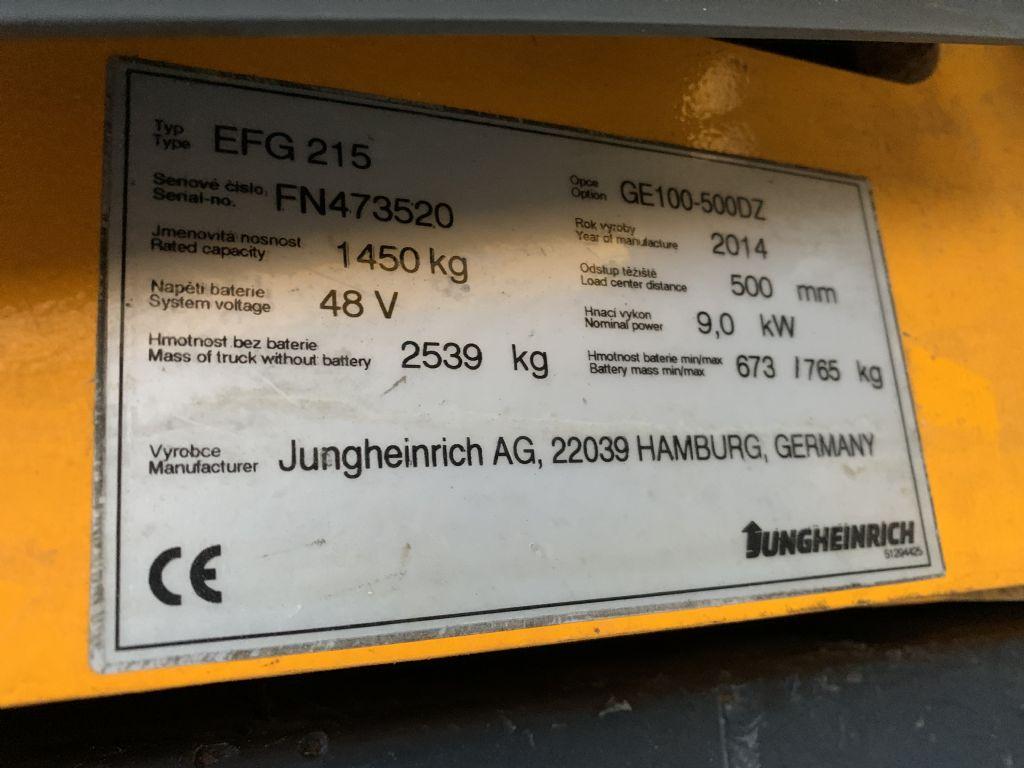 Jungheinrich EFG 215 Baujahr 2014/ HH5000 / Vollkabine  Elektro 3 Rad-Stapler www.gst-logistic.com