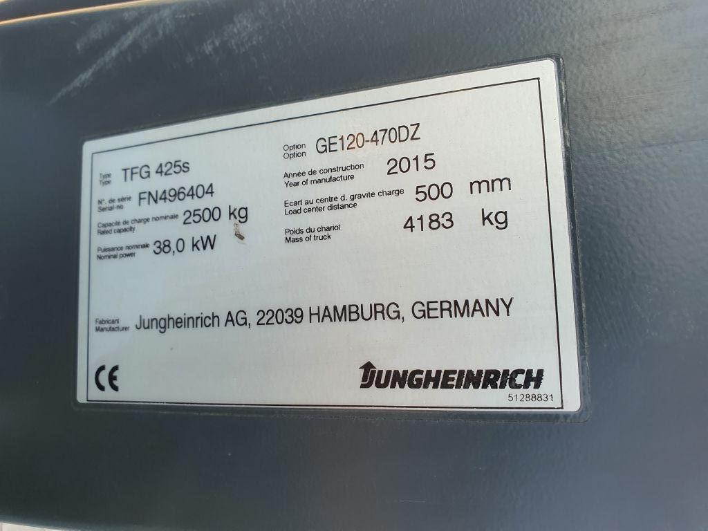 Jungheinrich TFG 425s Baujahr 2015/ Stunden 5986 HH 4700 Treibgasstapler www.gst-logistic.com