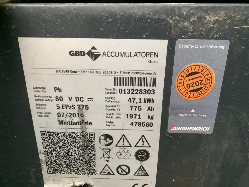 Jungheinrich EFG 430 Baujahr 2016/Stunden 4867 / HH3300 Elektro 4 Rad-Stapler www.gst-logistic.com