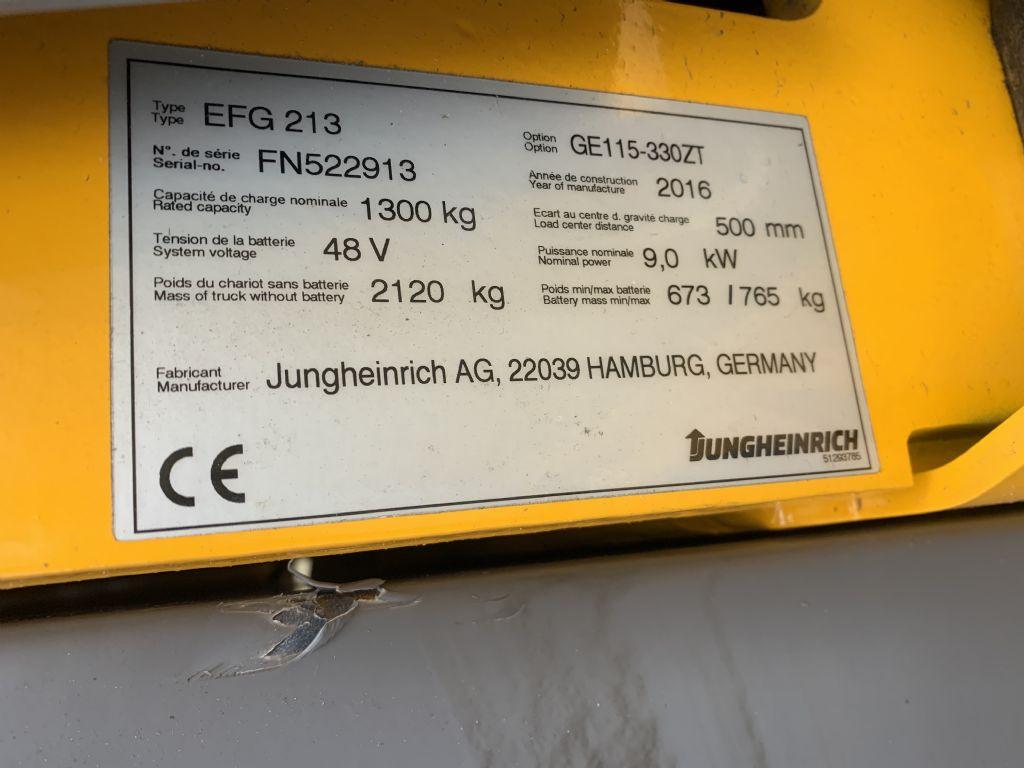 Jungheinrich EFG 213 Baujahr 2016 / Stunden 15795/ HH 3300 Elektro 3 Rad-Stapler www.gst-logistic.com