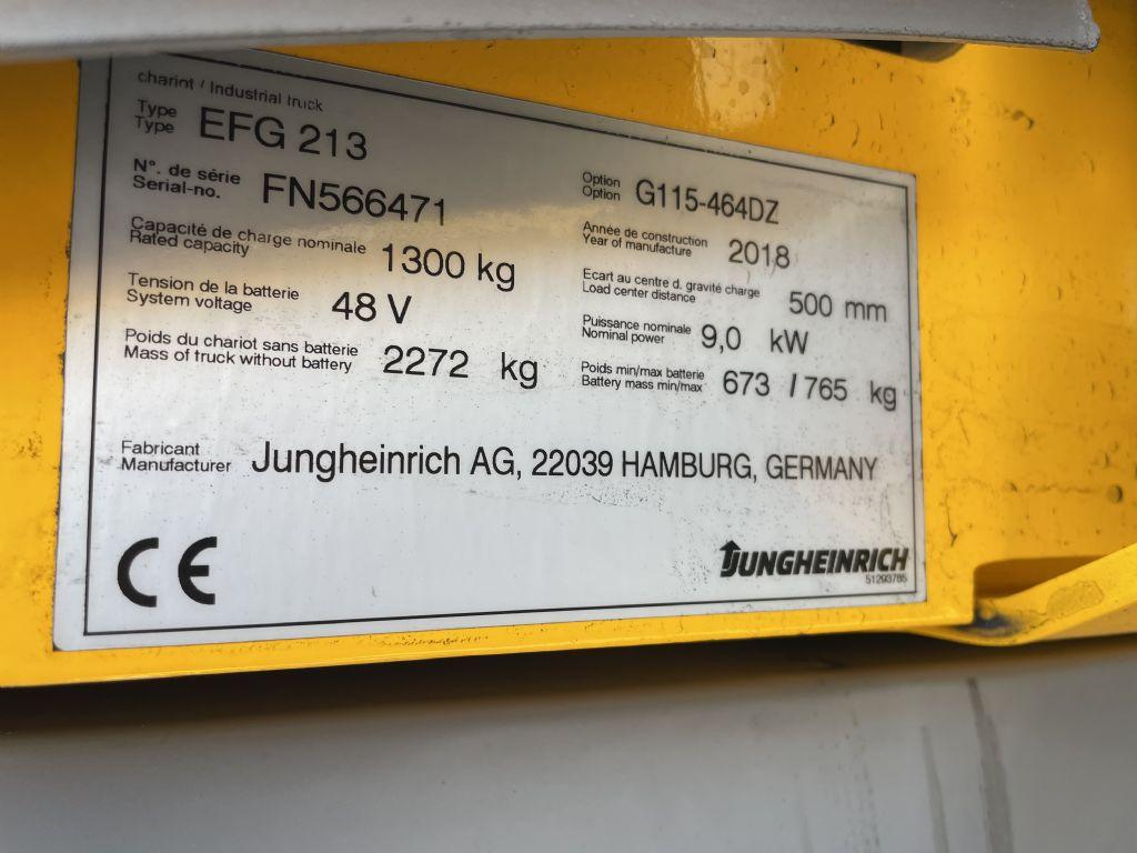 Jungheinrich EFG 213 Baujahr 2018 Hours 1398 NEUWERTIG Elektro 3 Rad-Stapler www.gst-logistic.com