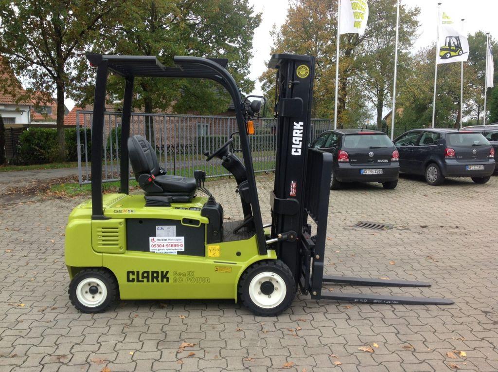 Clark GEX20s  Elektro 4 Rad-Stapler www.gabelstapler-heckert.de