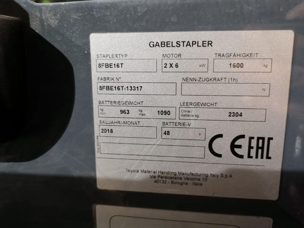 Toyota 8FBE16T Elektro 3 Rad-Stapler www.heinbockel-gabelstapler.de
