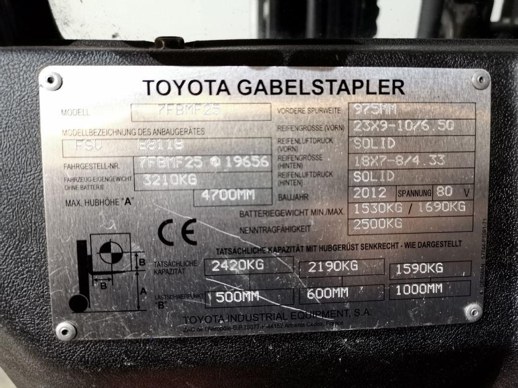 Toyota 7FBMF25 Elektro 4 Rad-Stapler www.heinbockel-gabelstapler.de