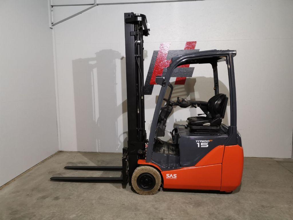 Toyota 8FBET15 Elektro 3 Rad-Stapler www.heinbockel-gabelstapler.de