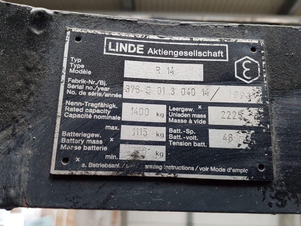 Linde R14 Schubmaststapler www.heinbockel-gabelstapler.de
