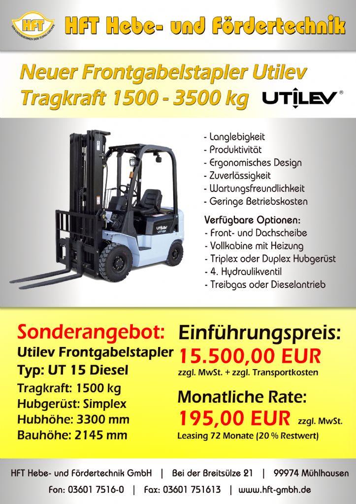 UTILEV-UT 15 -Dieselstapler http://www.hft-gmbh.de