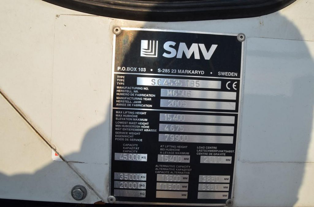 SMV SC4535TB5 Full-container reach stacker