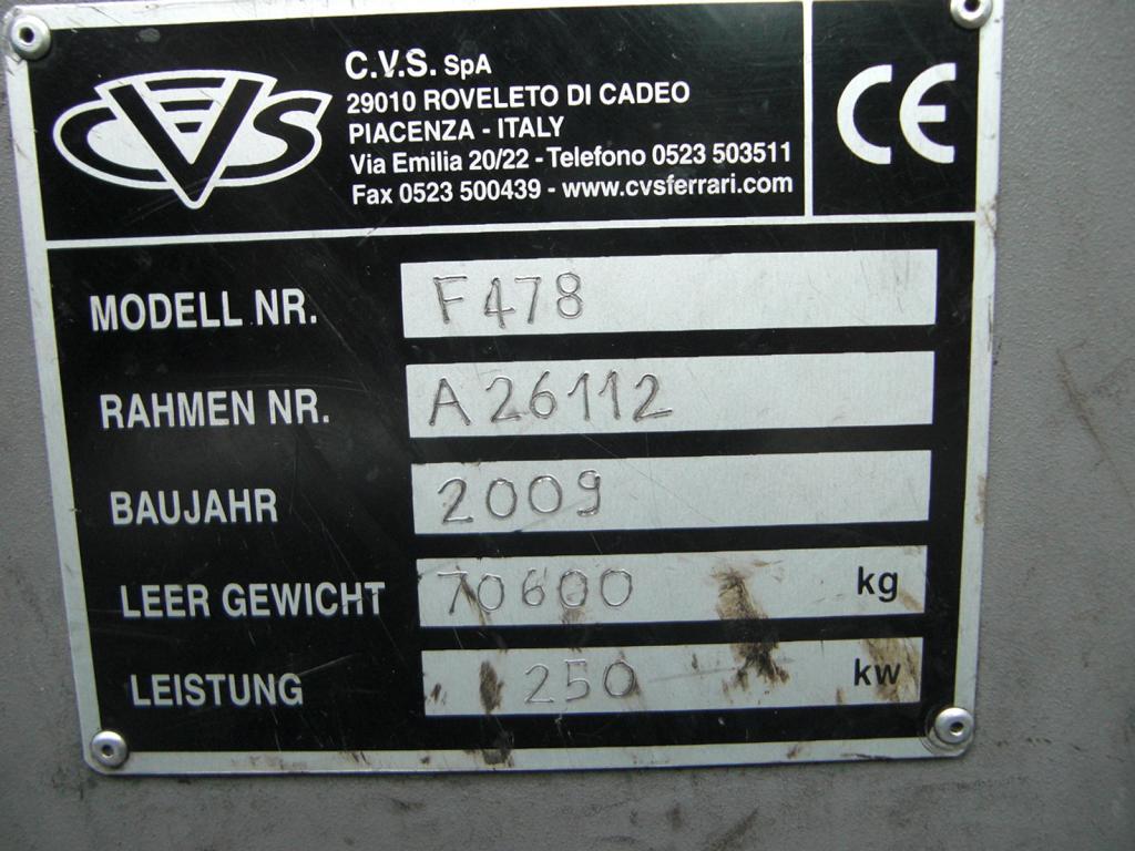 CVS Ferrari F478 Full-container reach stacker