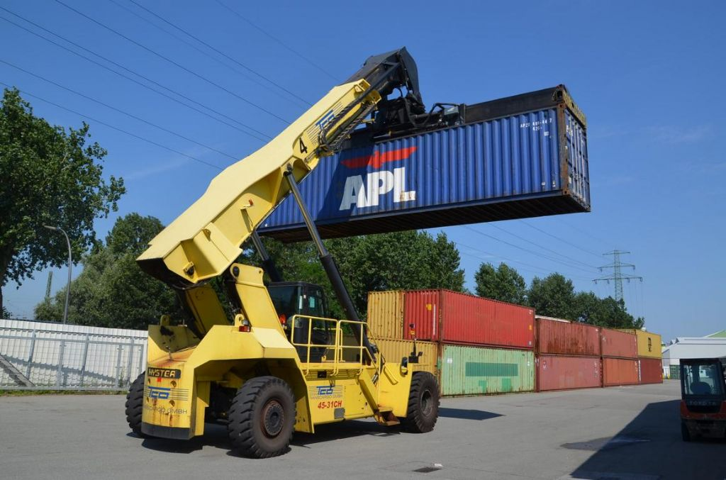 Hyster RS45-31CH Vollcontainer Reachstacker www.hinrichs-forklifts.com