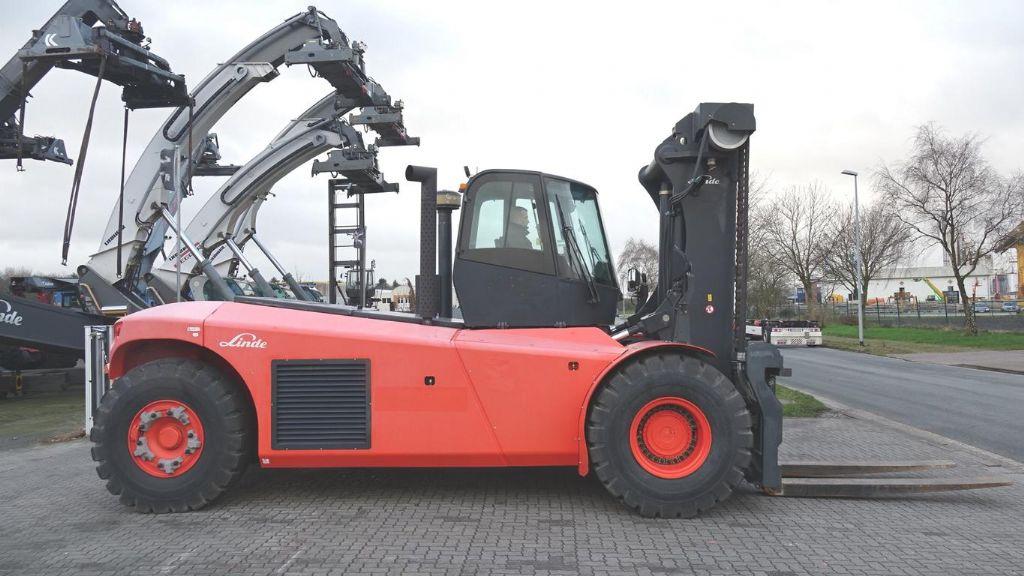 Linde H320 Diesel Forklift www.hinrichs-forklifts.com