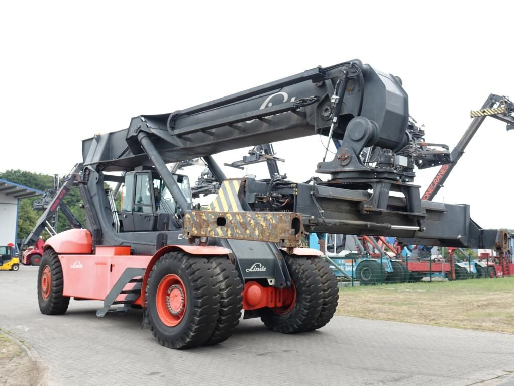 Linde C4535TL5 Vollcontainer Reachstacker