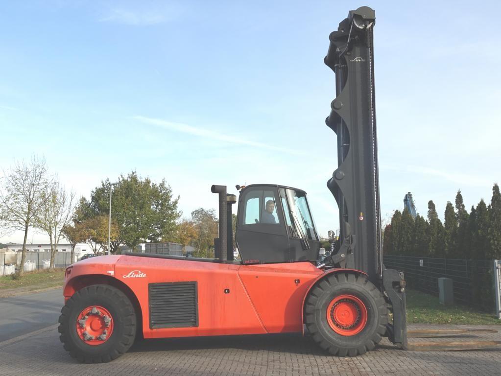 Linde H320 Heavy Forklifts www.hinrichs-forklifts.com