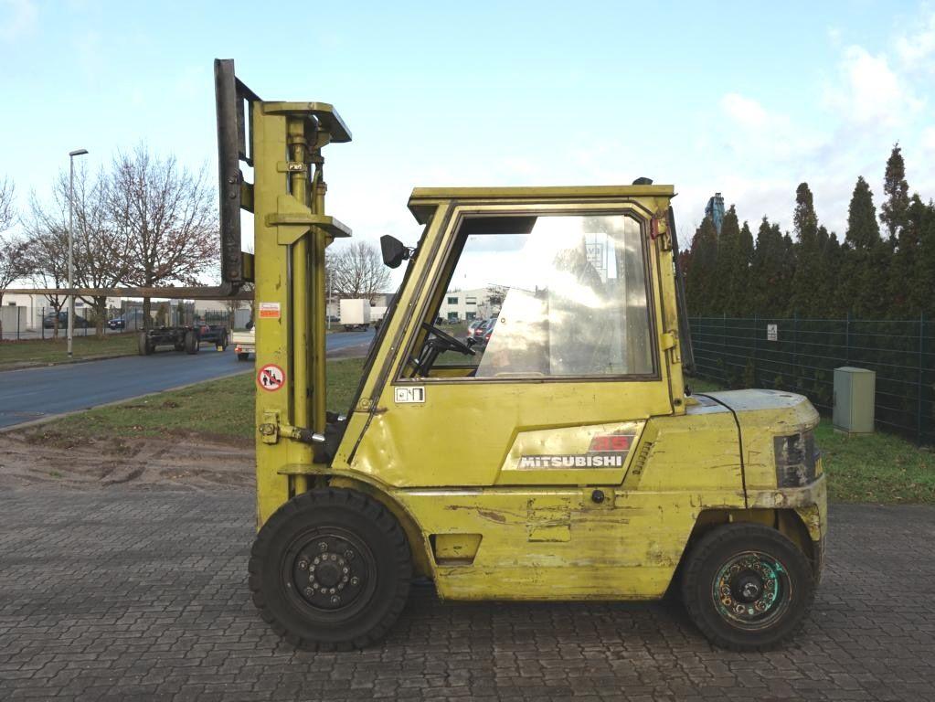 Mitsubishi FD35 Diesel Forklift www.hinrichs-forklifts.com