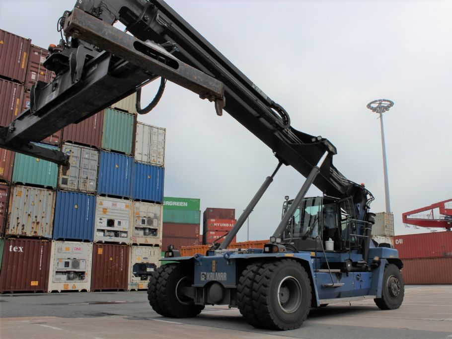 Kalmar DRG100-54S6 Empty Container Reachstacker www.hinrichs-forklifts.com