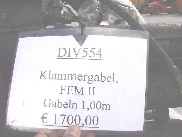 Seith Klammergabel 20621 Fork clamps