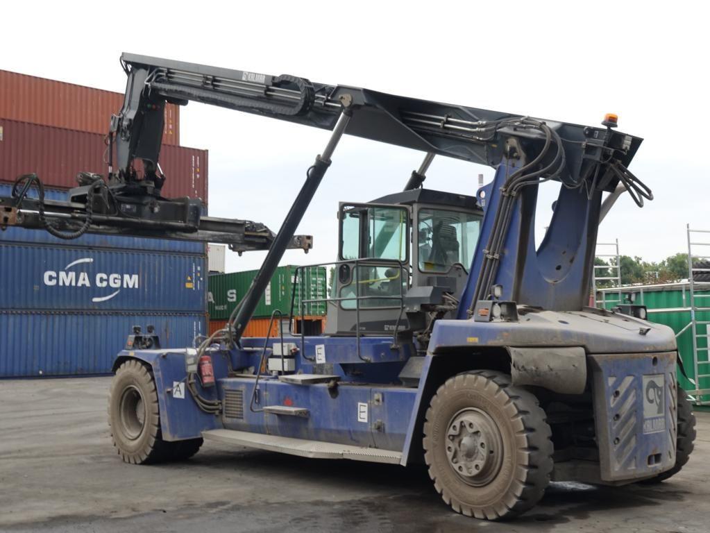 Kalmar-DRF100-54S6-Leercontainer Reachstacker