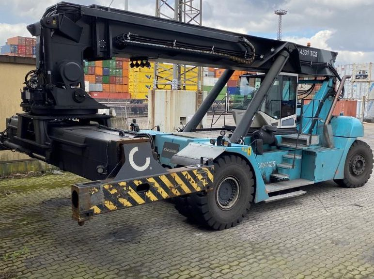 SMV SMV4531TC5 Vollcontainer Reachstacker www.hinrichs-forklifts.com