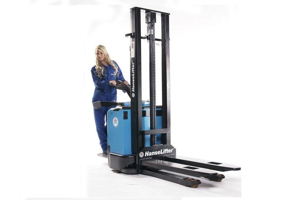 Hanselifter E-1032B High Lift stacker www.hinrichs-forklifts.com