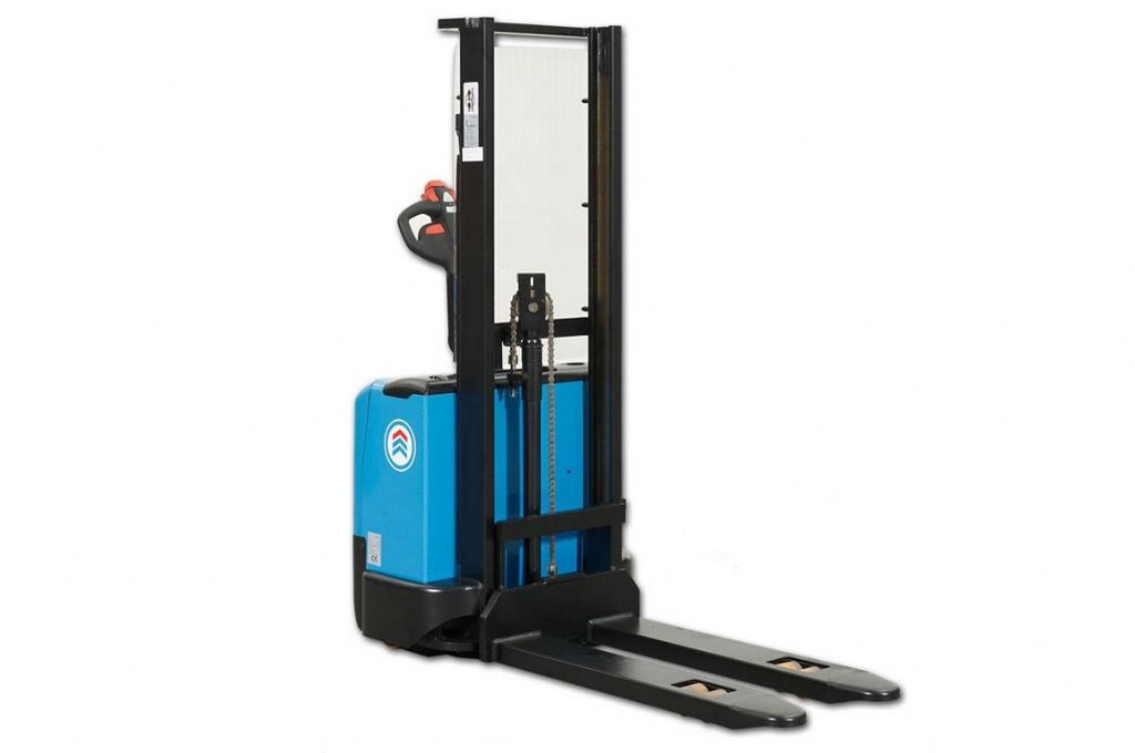 Hanselifter E-1216FH High Lift stacker www.hinrichs-forklifts.com