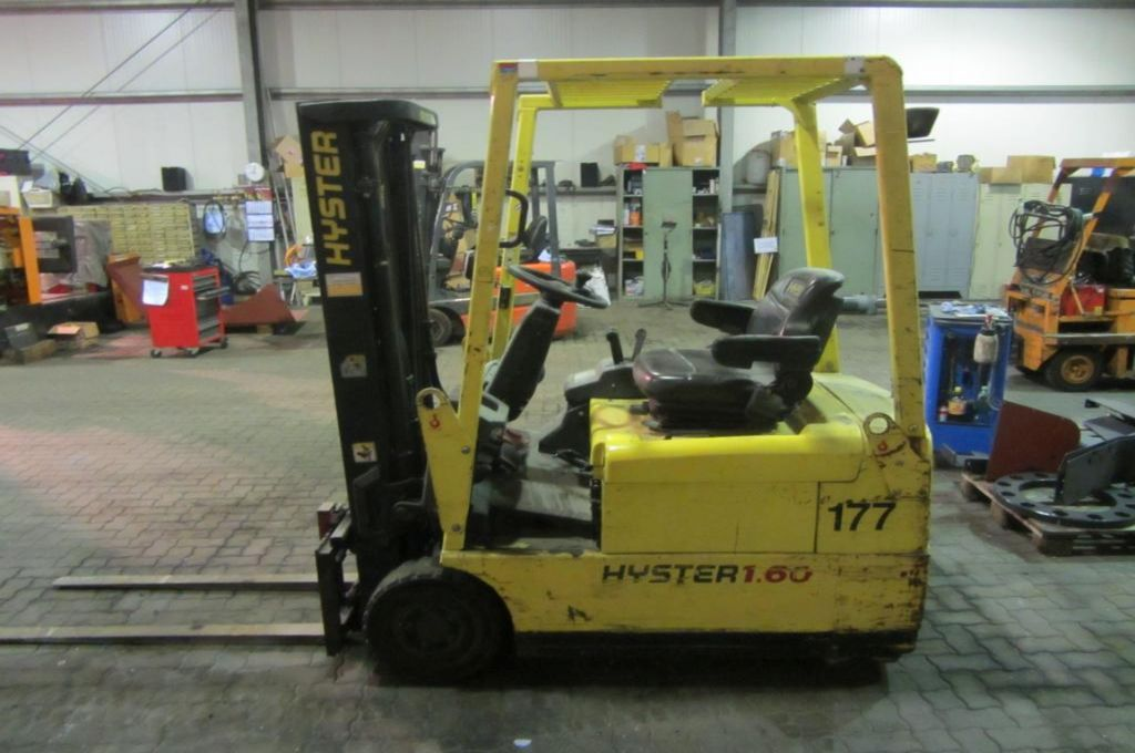 Hyster S1.60XMT Electric 3-wheel forklift www.hinrichs-forklifts.com