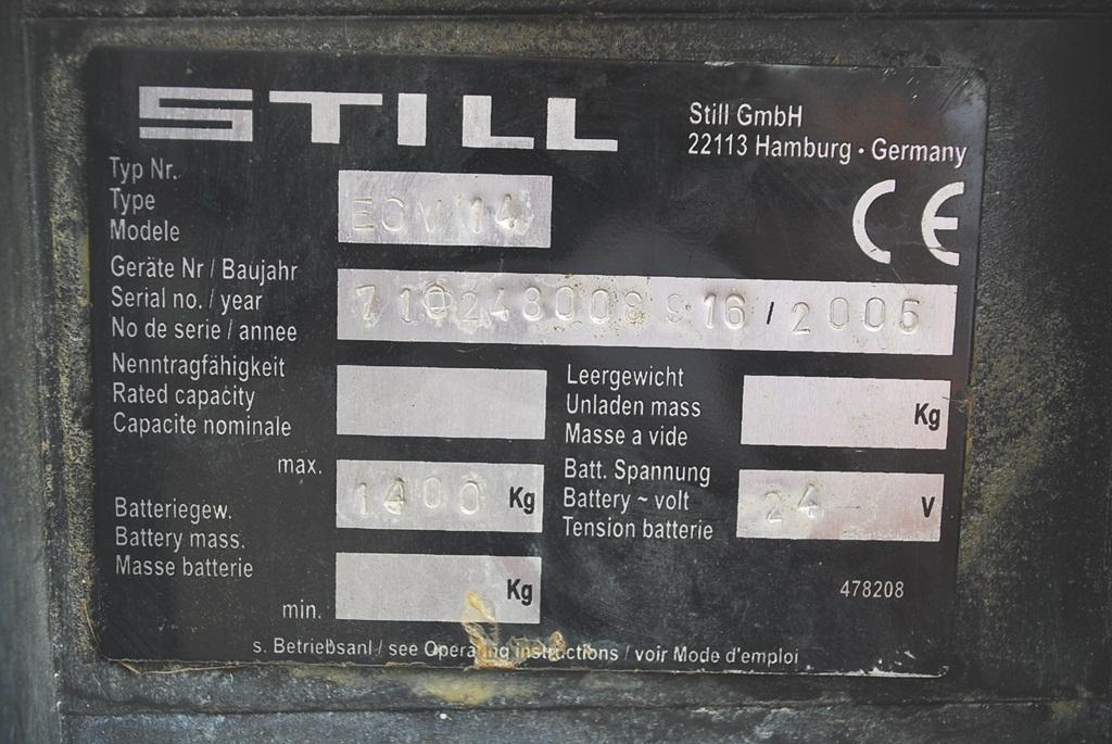 Still EGV14 High Lift stacker