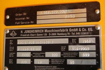 Jungheinrich EJC-L10G115-250T High Lift stacker