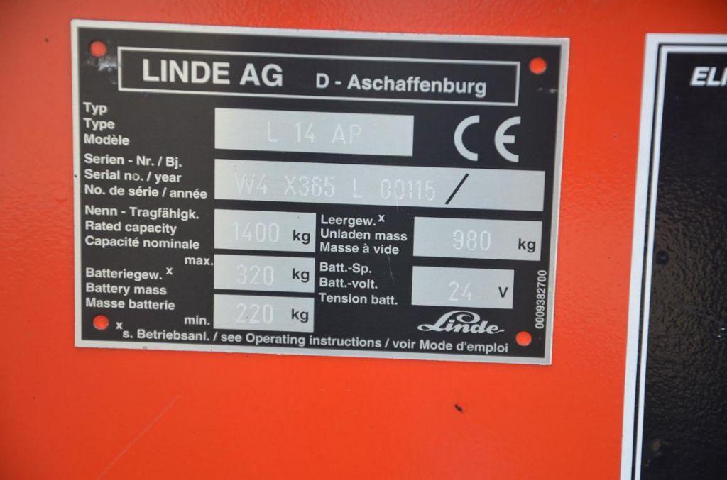 Linde L14AP High Lift stacker