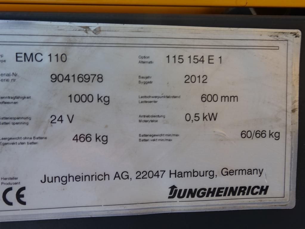 Jungheinrich EMC 110 Deichselstapler www.MecLift.de