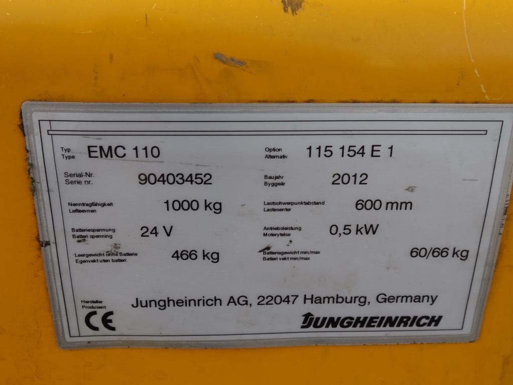 Jungheinrich EMC110 Deichselstapler