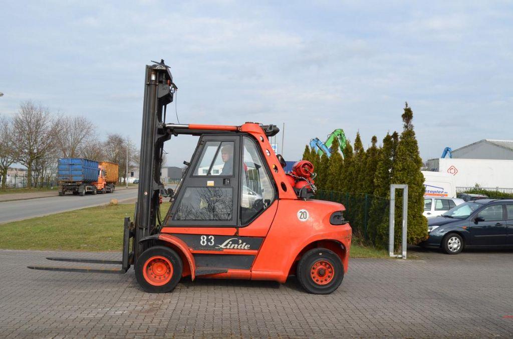 Linde H80T-900 LPG Forklifts www.hinrichs-forklifts.com