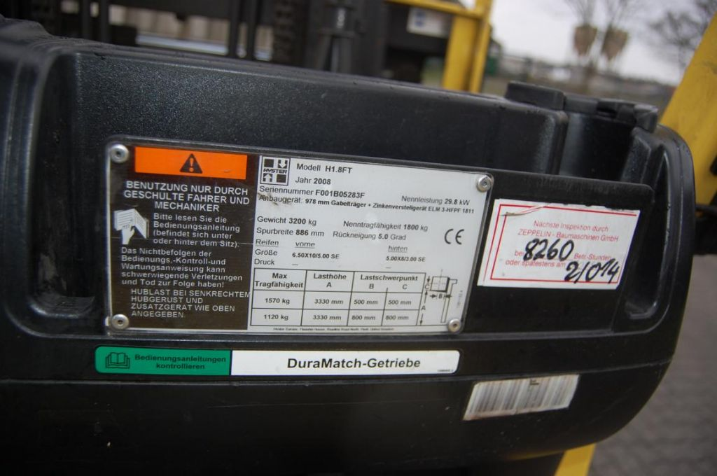 Hyster H1,8FT LPG Forklifts