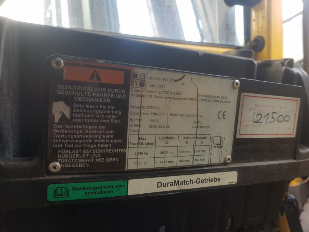 Hyster 5 units defect Hyster forklifts AS IS CONDITION LPG Forklifts