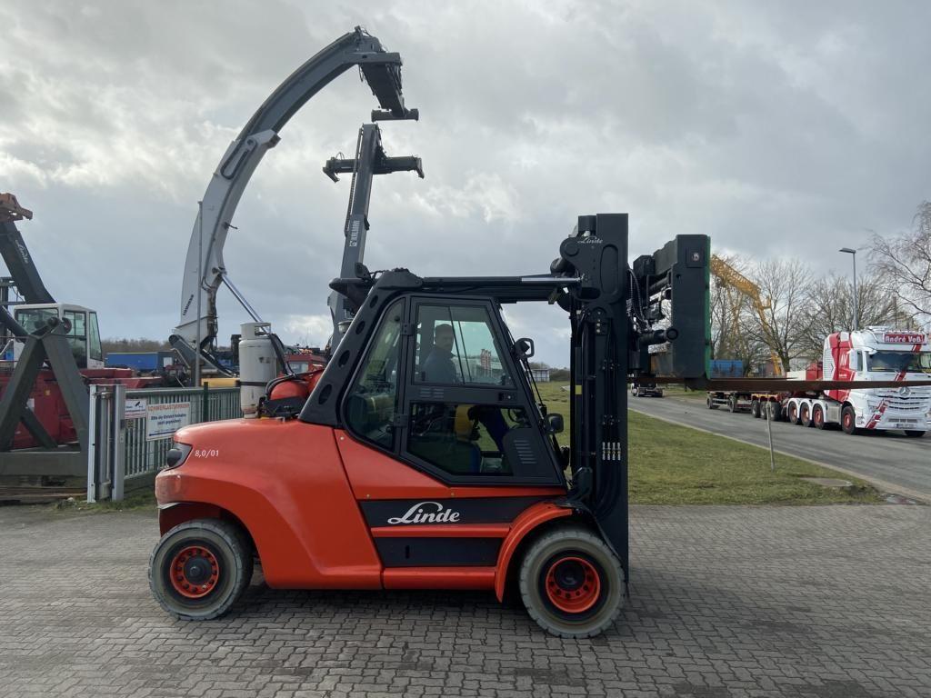 Linde H80T-02-1100 LPG Forklifts www.hinrichs-forklifts.com