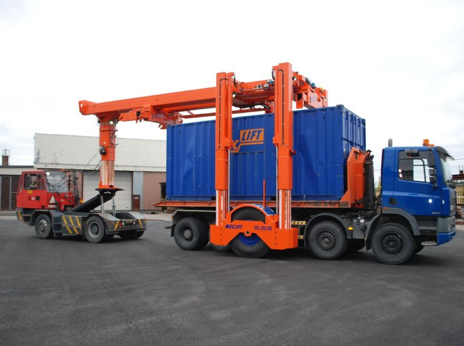 Meclift ML36CM Reach-Stacker pour container plein www.hinrichs-forklifts.com