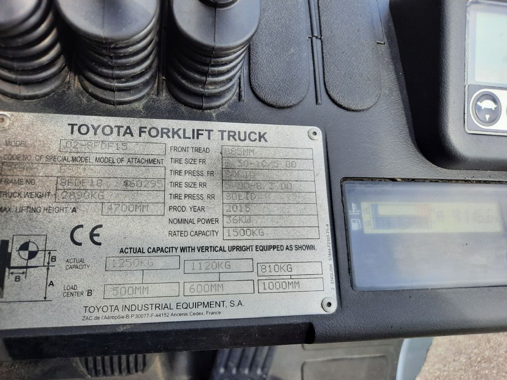 Toyota 8 FDF 15 Dieselstapler www.huh-staplerservice.at